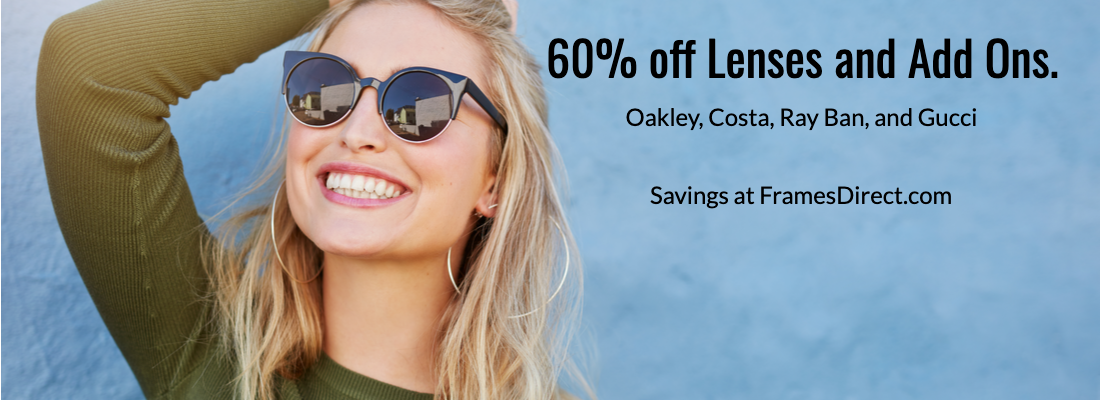 FramesDirect Deal on Oakley, Rayban, and Costa Eyeglasses
